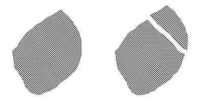 Schemat pękania diamentu monokrystalicznego