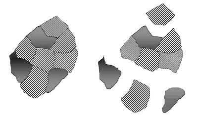Schemat pękania diamentu polikrystalicznego